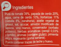 Salsa boloñesa - Ingredientes