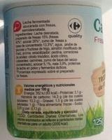 Leche Fermentada Semidesnatada - Ingrediënten