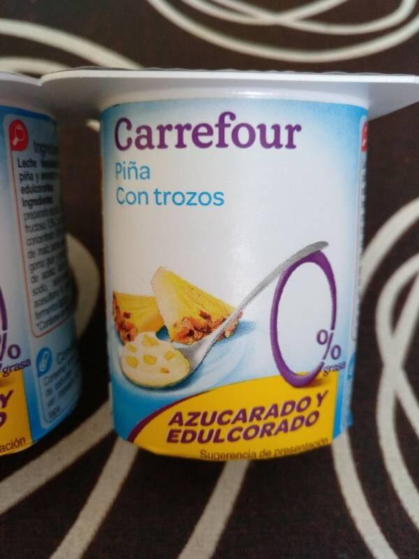 Yogur con trozos de piña desnatado - Product