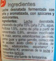 Yogur con trozos de piña desnatado - Ingredients