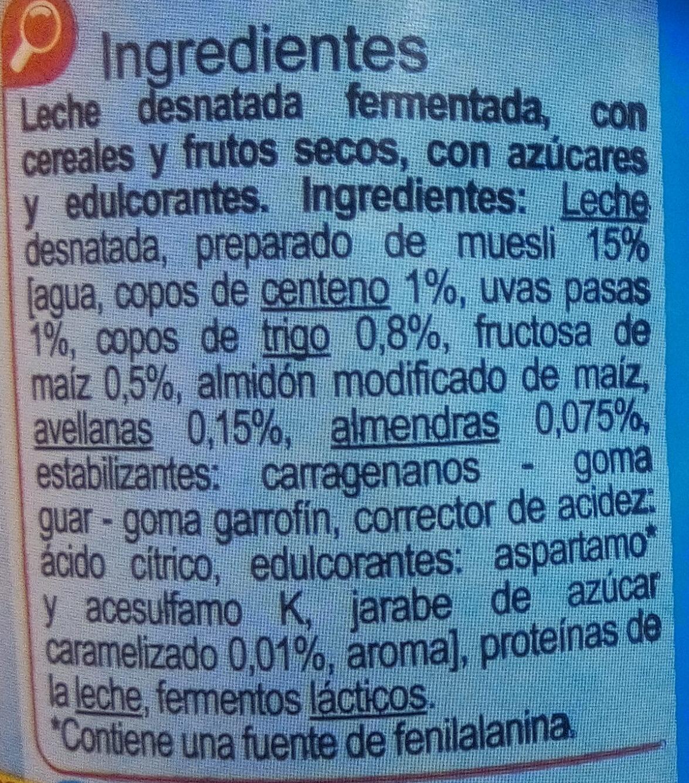 Yogur Muesli - Ingredients