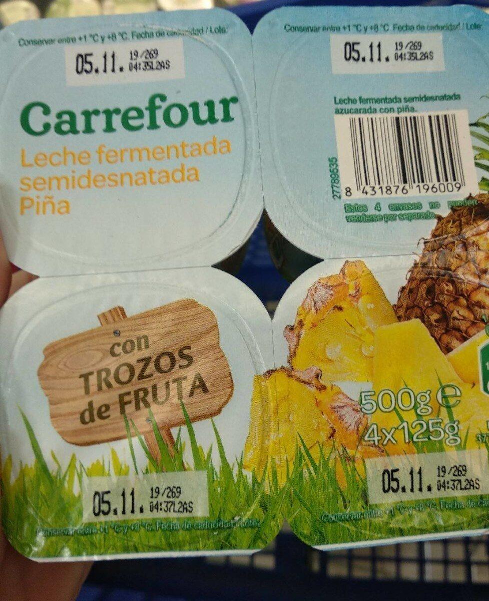 Yogurt piña con trozos de fruta - Product