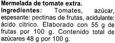 Mermelada extra tomate - Ingredientes