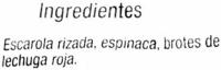 Ensalada Mediterránea - Ingrédients - es