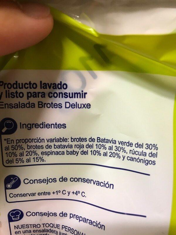 Brotes deluxe - Ingredients - es