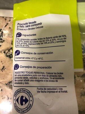 Brotes deluxe - Informació nutricional - es