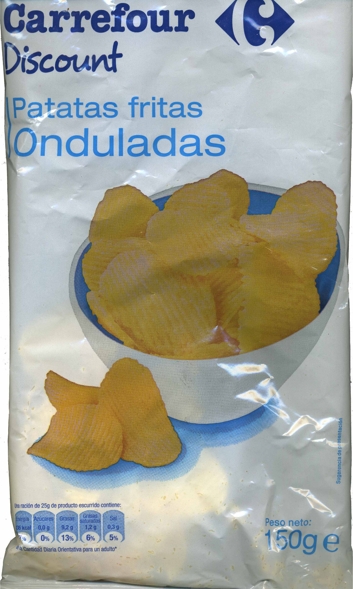 "Patatas fritas onduladas ""Carrefour"" - Producto - es"