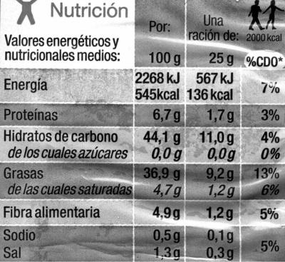 """Patatas fritas onduladas """"Carrefour"""" - Información nutricional - es"""