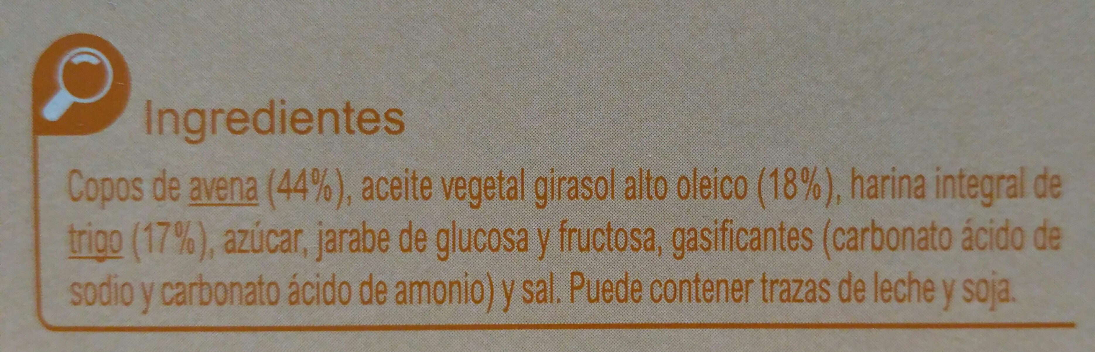 Galletas digestive avena - Ingredients - es