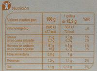 Galletas digestivo de avena - Nährwertangaben