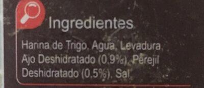 Pan rallado con ajo y perejil - Ingredientes