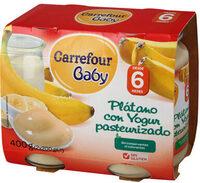 Tarrito plátano con yogurt - Producto - es