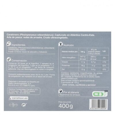 Carabinero 6/8 - Información nutricional - es