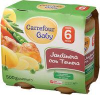 Tarrito jardinera con ternera - Produit - es