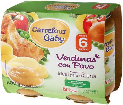 Tarrito verdura con pavo - Producto - es