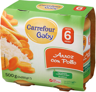 Tarrito arroz con pollo - Produit - es