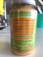 Tarrito verdura con pavo - Informations nutritionnelles - es
