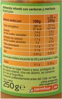 Tarrito verdura con merluza - Informació nutricional - es