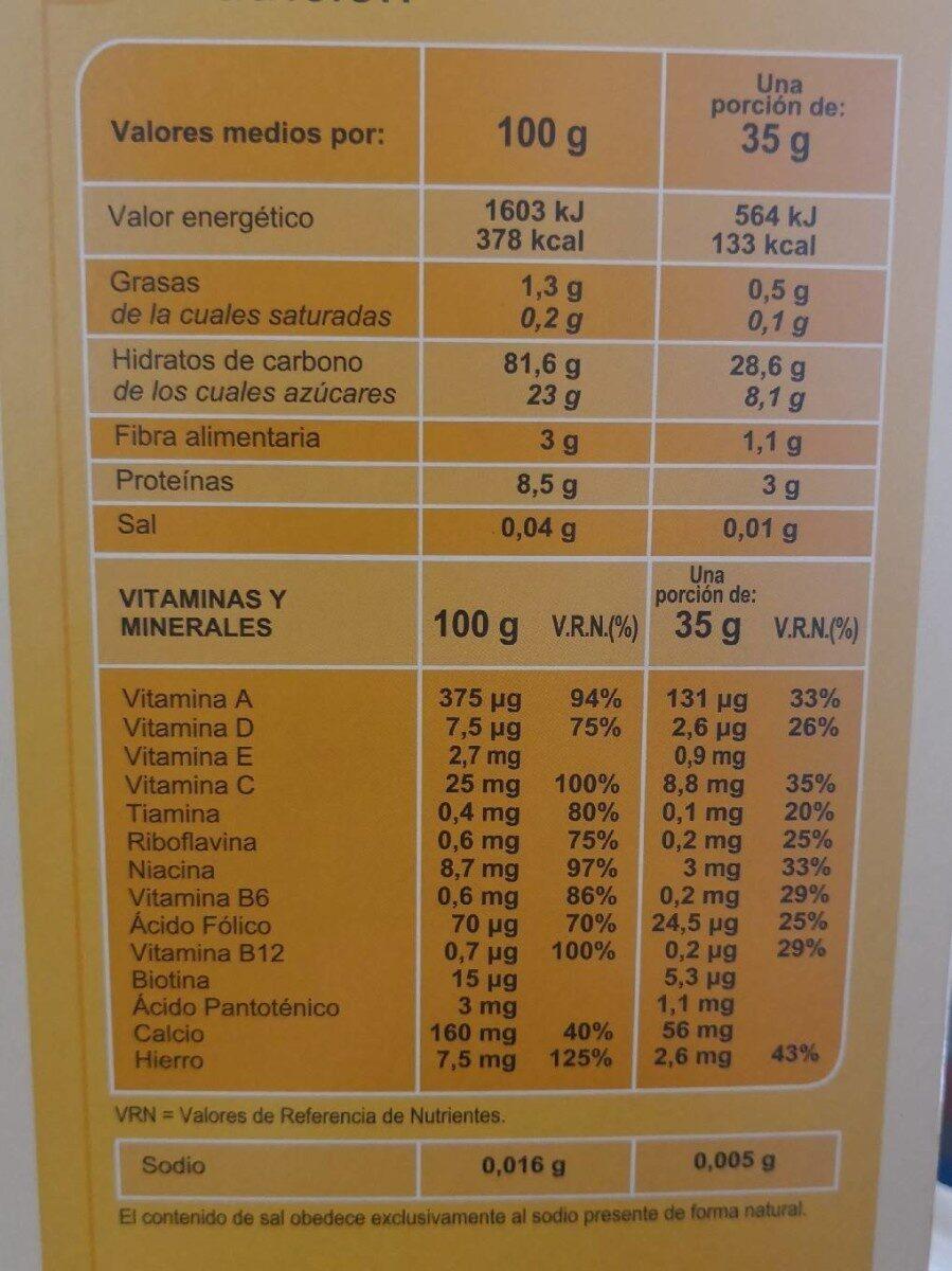 Papilla 8 Cereales - Información nutricional - es