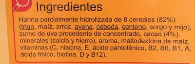 Papilla cereales cacao - Ingredients - es