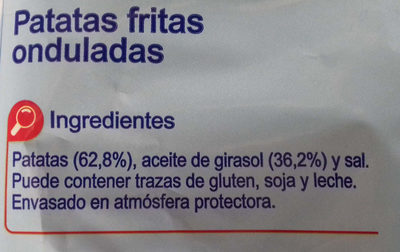 Patatas fritas onduladas - Ingrédients