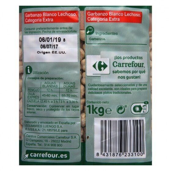Garbanzo Lechoso - Informations nutritionnelles - es
