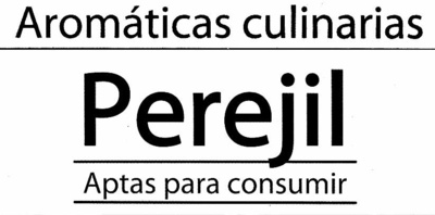 Maceta de perejil - Ingredientes