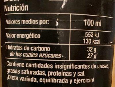 Creme vinaigre balsamique - Información nutricional