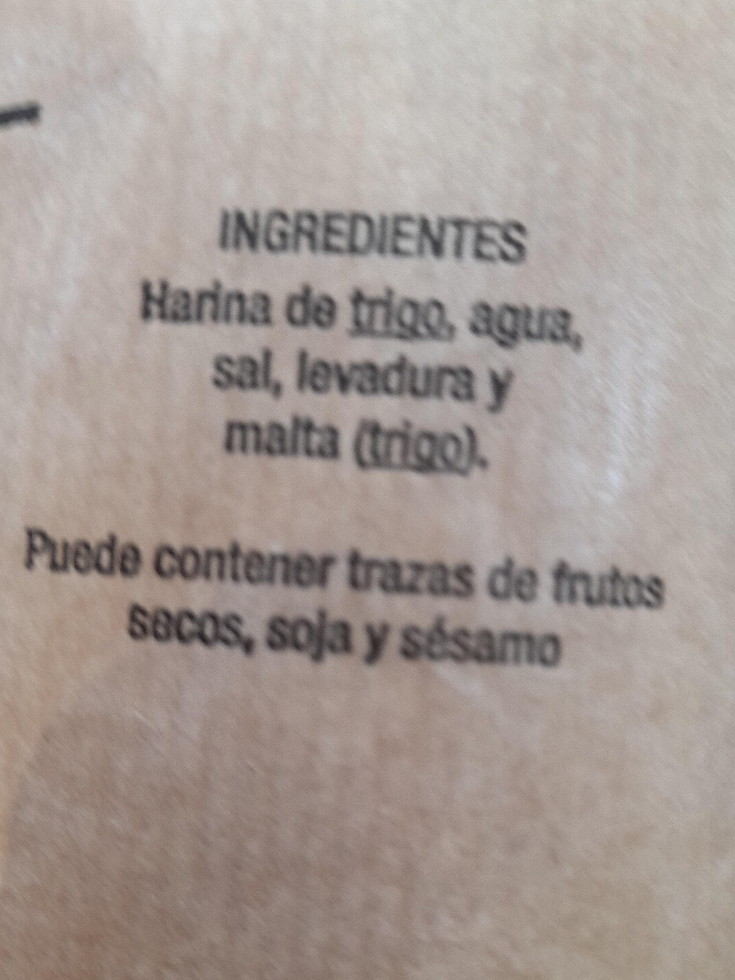 Barra de pan - Ingredientes - es