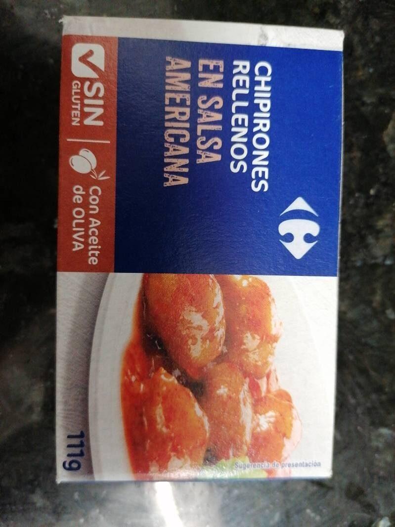 Chipirones Rellenos en salsa americana - Producto