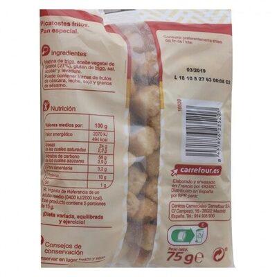 Picatostes fritos sabor natural - Información nutricional