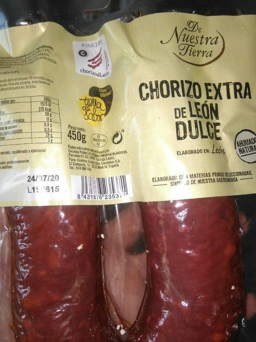 Chorizo Extra de León Dulce - Producto