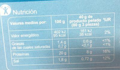 Langostino cocido extra grande - Información nutricional - es