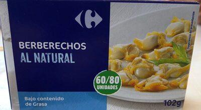 Berberechos al natural - Producto