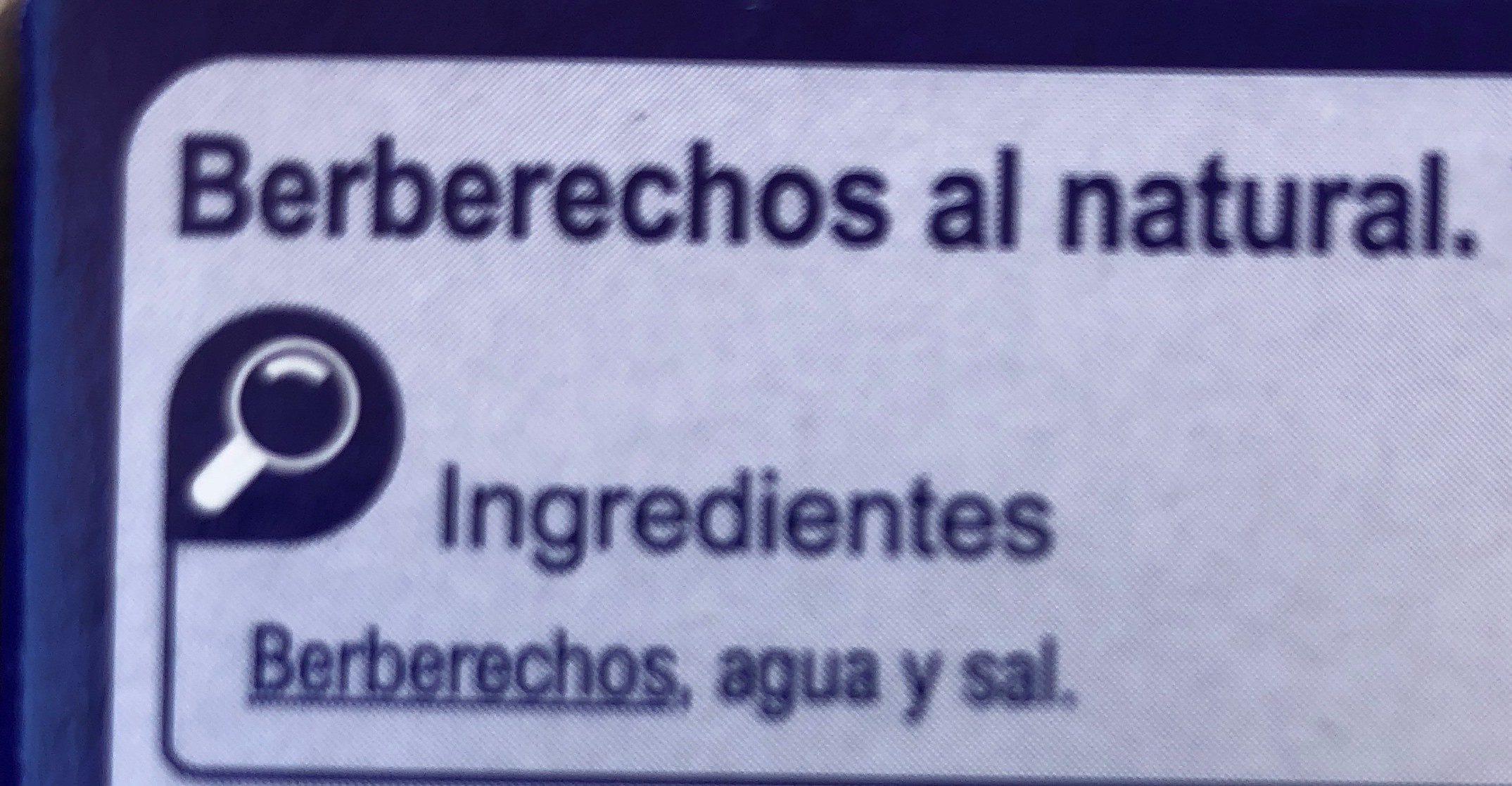 Berberechos 60/80 ol 120 - Ingrédients - fr
