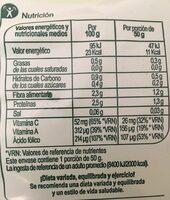 Rúcula - Información nutricional