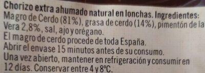 Chorizo extra de León picante - Ingredientes