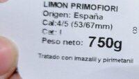 Limon primofiori - Ingrédients - es