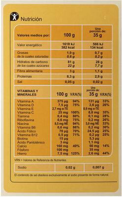 Papilla con galletas - Información nutricional - es