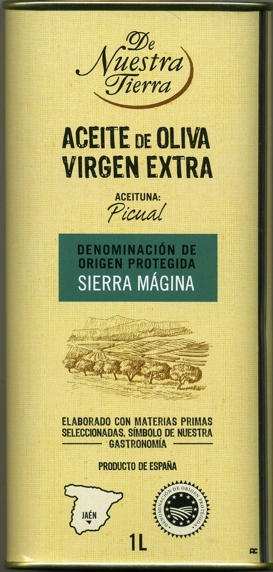 Aceite de oliva virgen extra Origen Sierra Mágina Variedad Picual - Producto