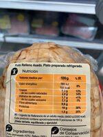 Pollo relleno asado - Información nutricional - es