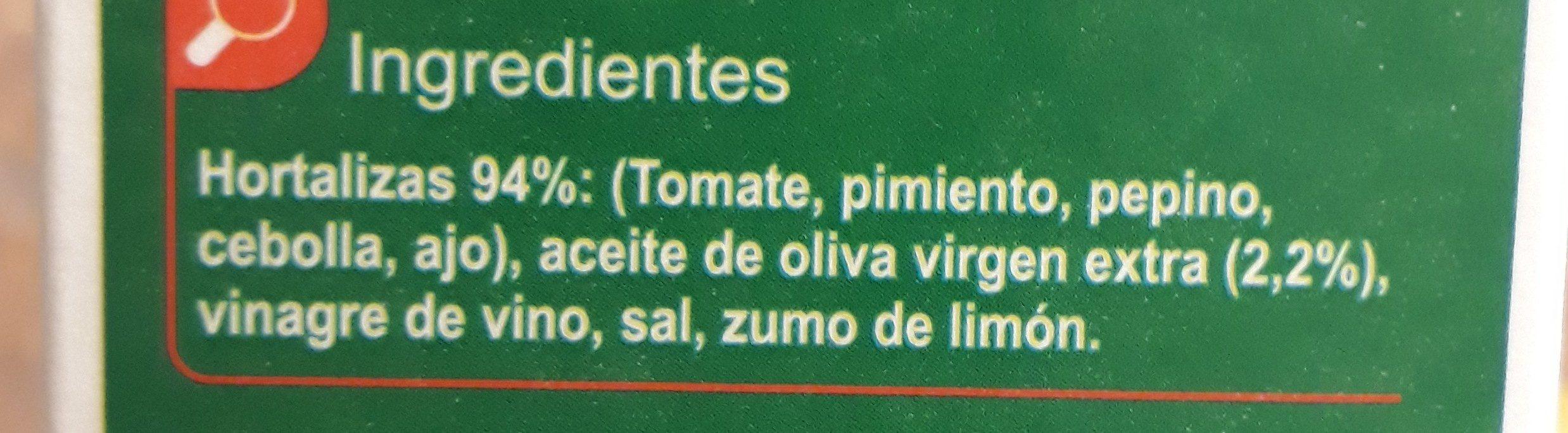 Gazpacho - Ingredients