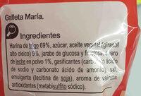 Galletas María Mini - Ingrediënten