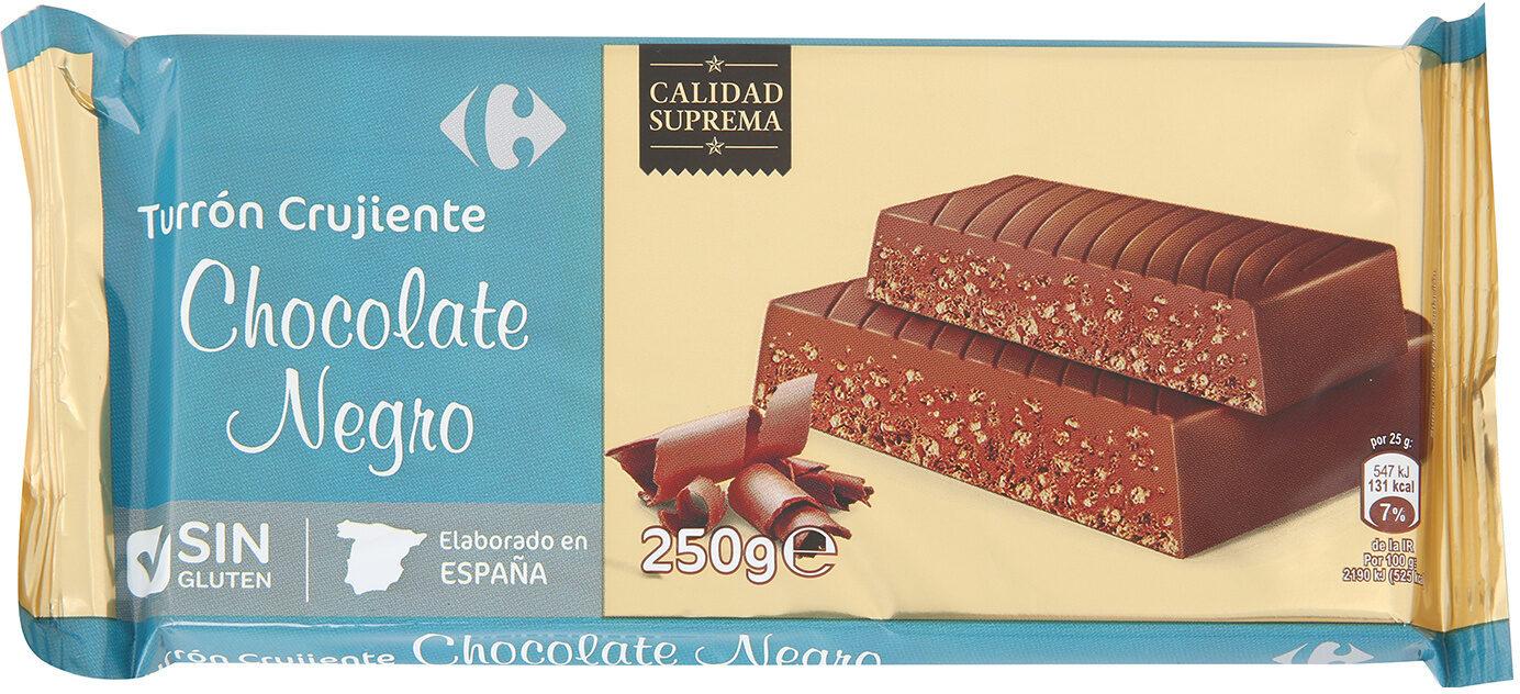 Turrón crujiente chocolate negro - Product - es