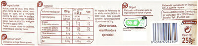 Turrón crujiente chocolate negro - Nutrition facts