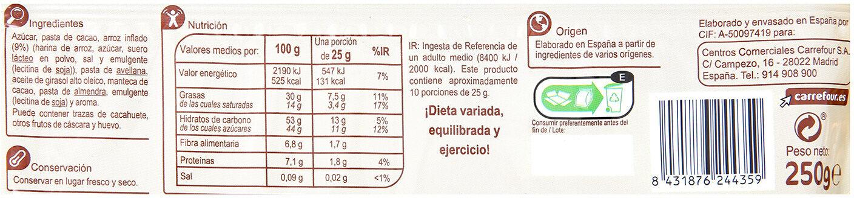 Turrón crujiente chocolate negro - Nutrition facts - es