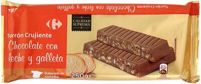 Turrón crujiente galleta - Producte - es