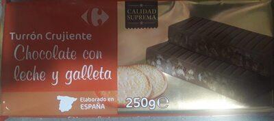 Turrón crujiente  Chocolate con leche y galleta