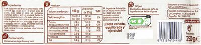 Turrón crujiente galleta - Informació nutricional - es