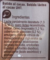 Batido cacao - Ingredients - es